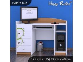 Písací stôl Happy Buk B02
