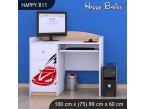 Písací stôl Happy Hruška B11