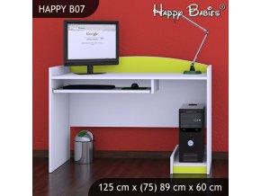 Písací stôl Happy Lemon B07