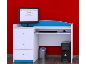 Písací stôl Happy Modrý B05