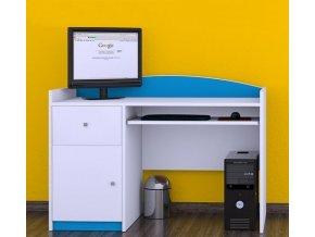 Písací stôl Happy Modrý B06