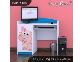 Písací stôl Happy Modrý B10