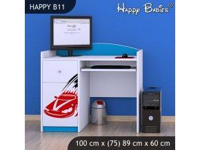 Písací stôl Happy Modrý B11