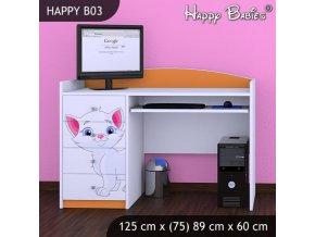 Písací stôl Happy Orange B03