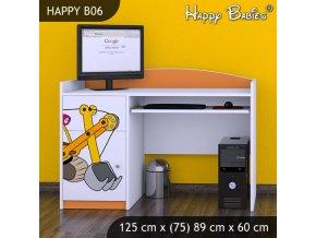 Písací stôl Happy Orange B06