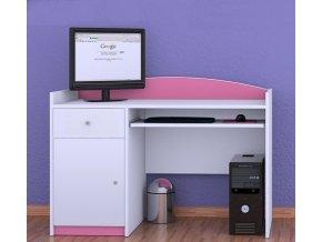 Počítačový stôl Happy Pink B04