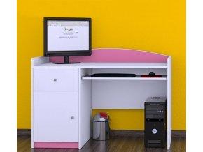 Detský kancelársky stôl Happy Pink B06