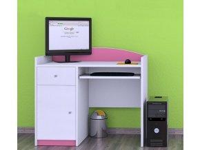 Happy detský počítačový stolík Pink B09
