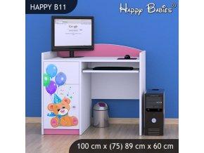 Happy Pink B11 detský písací stôl