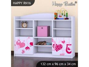 Regál Happy Biely RN16
