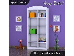 Biely Regál Happy RW14