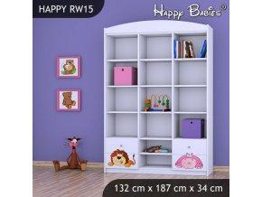 Regál Happy Biely RW15