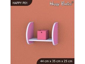 Polička Happy Pink P01