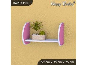 Polička Happy Pink P02