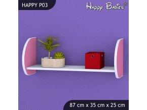Polička Happy Pink P03