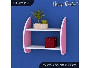 Polica do detskej izby Happy Pink P05