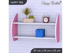 Polica do detskej izby Happy Pink P06