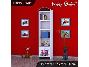 Regál Happy Gaštan RW01