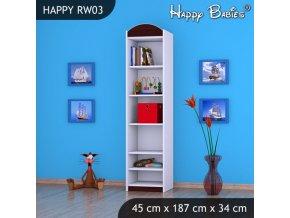 Regál Happy Gaštan RW03