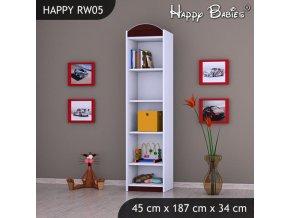 Regál Happy Gaštan RW05