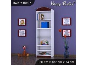 Regál Happy Gaštan RW07