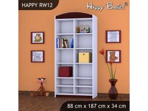 Regál Happy Gaštan RW12