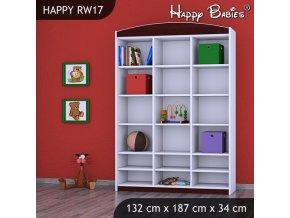 Regál Happy Gaštan RW17