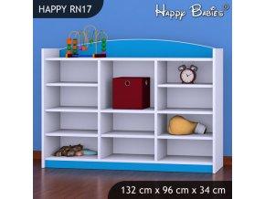 Regál Happy Modrý RN17