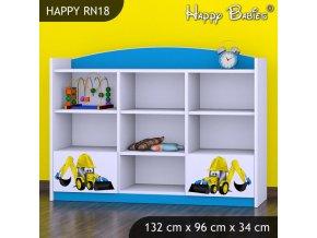 Regál Happy Modrý RN18