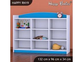 Regál Happy Modrý RN19