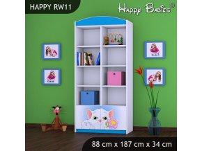 Regál Happy Modrý RW11