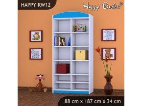 Regál Happy Modrý RW12