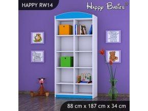 Regál Happy Modrý RW14