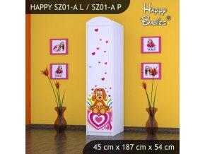 Skriňa Happy Biela SZ01-A