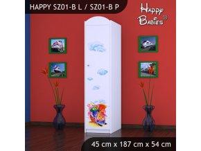 Skriňa Happy Biela SZ01-B