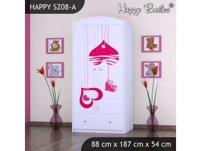 Skrine do detskej izby Happy Biela SZ08-A