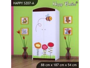 Skriňa Happy Gaštan SZ07-A