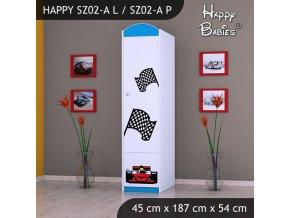 Skriňa Happy Modrá SZ02-A