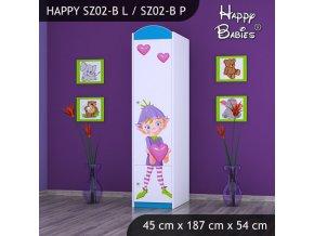 Skriňa Happy Modrá SZ02-B