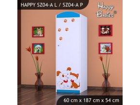 Skriňa Happy Modrá SZ04-A
