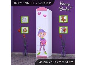 Skriňa Happy SZ02-B