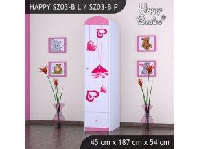 Skriňa Happy Pink SZ03-B