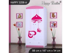 Skriňa Happy Pink SZ08-A
