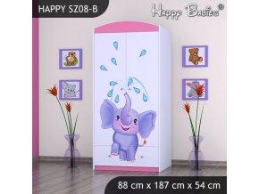 Skriňa Happy Pink SZ08-B