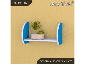 Polička Happy Modrá P02
