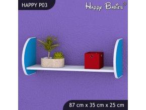 Polička Happy Modrá P03