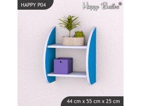 Polička Happy Modrá P04