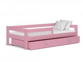 Harry 180x80 Ružová detská posteľ Color