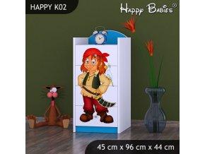 Komoda Happy Modrá K02