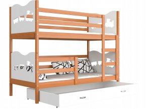 Poschodová posteľ Fox 190x80 Biela